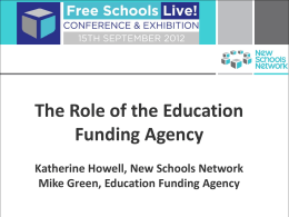 Education Funding Agency (EFA)