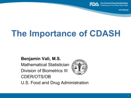 The Importance of CDASH Presentation