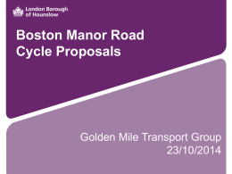 BMR Presentation - the Golden Mile Transport Group