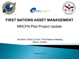 First Nations Asset Management Pilot ProjectThe Mississaugas of
