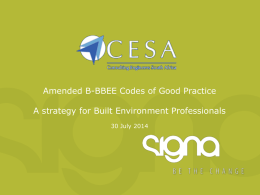 CESA Amended Codes Workshop