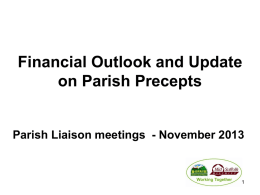 Financial Outlook and Update on Parish Precepts