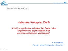 Nationaler Krebsplan - N-PSOM