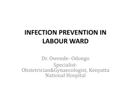 infection prevention in labour and delivery units.