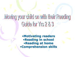 Moving your child on with their Reading