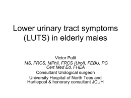 Lower urinary tract symptoms in elderly males