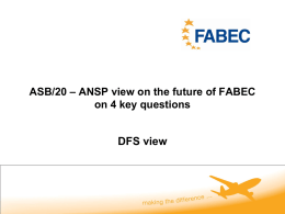 ASB/20 ANSP View on the future of FABEC