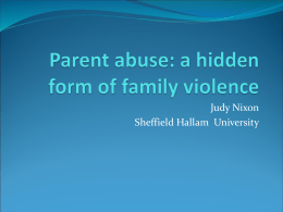 What is Parent Abuse?
