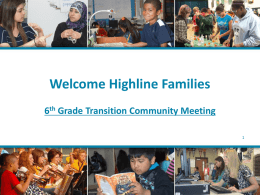 6 th Grade Transition Committee