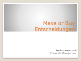Make or Buy Entscheidungen - FOM-Wiki