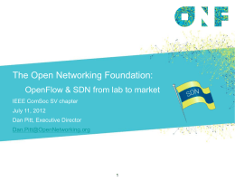 The Open Networking Foundation