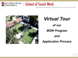 MSW Program - School of Social Work, SDSU
