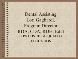 Dental Assisting Power Point
