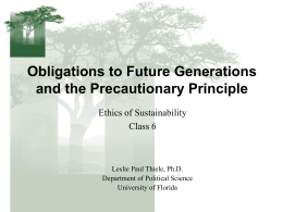 Future Generations - University of Florida