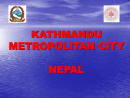 Urban Risks of Kathmandu City - SAARC Disaster Management