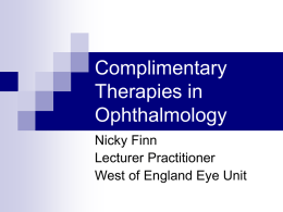 Alternative & Complimentary Medicine in ophthalmology