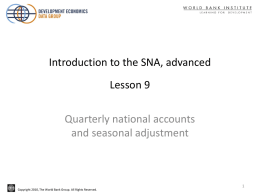 Quarterly national accounts and seasonal adjustment