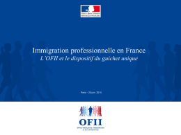 """Immigration professionnelle en France"" de l`OFII"