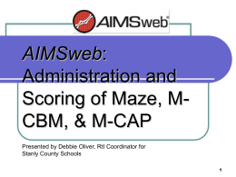 AIMSweb: R-CBM Administration and Scoring