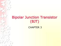 Bipolar Junction Transistor (BJT) - WordPress.com