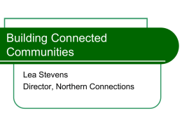 Lea Stevens – Northern Connections regional planning