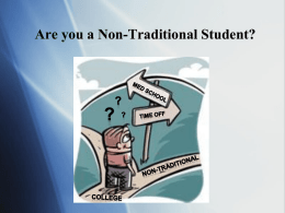 Non-Traditional Students - University of Pennsylvania School of