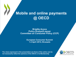 Mobile and online payments @ OECD (Brigitte Acoca)