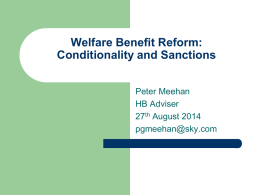 Conditionality - Coalition of Care and Support Providers in Scotland