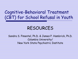 Cognitive-Behavioral Treatment for Anxiety in Youth