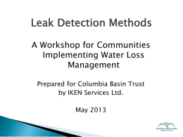 Leak Detection Methods
