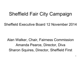 Presentation 1 - Sheffield Fair City Campaign