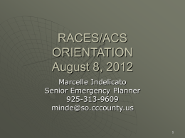 RACES Membership Orientation Slides