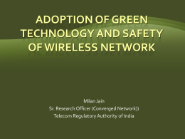 Adoption of Green Technology and Safety of Wireless Network