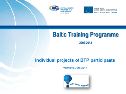 Nordic Training Programme