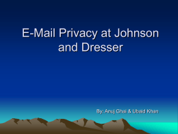 E-Mail Privacy at Johnson and Dresser