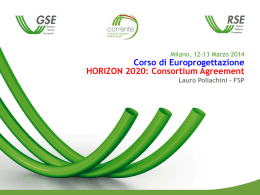 Workshop Europrogettazione - Pollachini - HORIZON