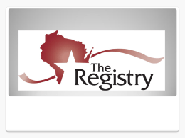The Registry: Your Path to