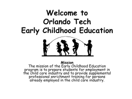 Orlando Tech Early Childhood Education