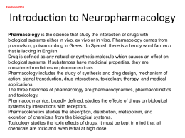 Introduction to neuropharmacology