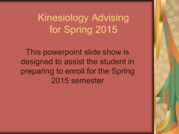 Advising Information - Kansas State University