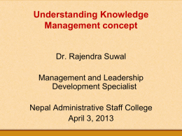 Understanding Knowledge Management concept