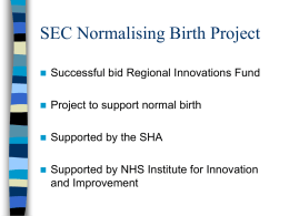 SEC Normalising Birth Project