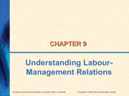 Ch 9 - Labour Relations