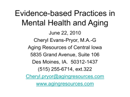 Evidence-based practices - University of Iowa College of Public Health