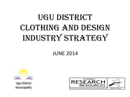 Clothing-and-Textile - Ugu District Municipality