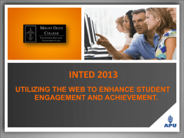 inted 2013 utilizing the web to enhance student