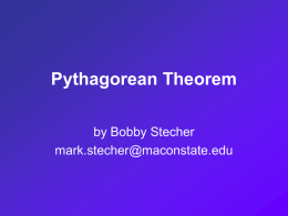 Proof of the Pythagorean Theorem