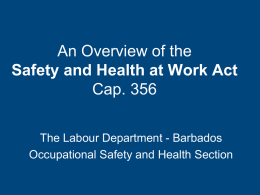 Safety and Health at Work Act 2005