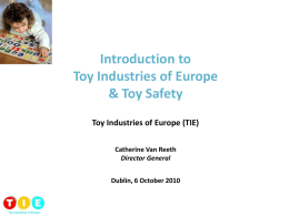Toy Industries of Europe and toy safety