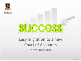Easy migration to a new Chart of Accounts
